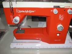 Vintage Italian Stretch and Sew in Bright Orange!!