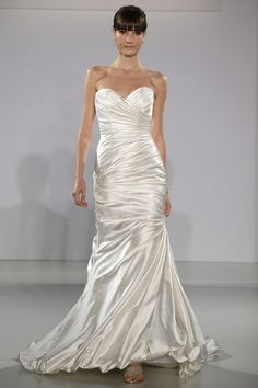 Maggie Sottero - Bridal Fall 2013    TAGS:Fishtail, Floor-length, Strapless, Ivory, Maggie Sottero, Satin, Silk, Glamour