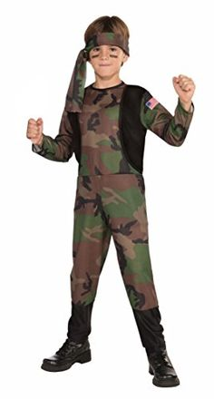 Forum Novelties Camo Soldier Costume, Child Small ** Want to know more, click on the image.
