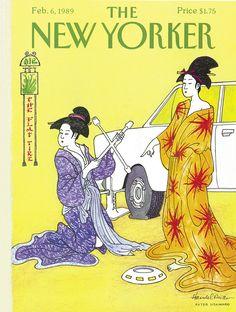 The New Yorker - Monday, February 6, 1989 - Issue # 3338 - Vol. 64 - N° 51 - Cover by : John Bernard Handelsman