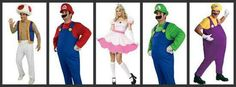Group Halloween Costume. Toad, Mario, Luigi, Wario. Could also add the yellow Princess Daisy or Rosaline.