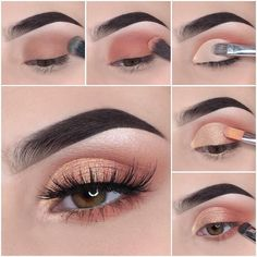Schönes Augen Make-up Step by step how to achieve a soft glam makeup tutorial look Wedding Favors – Smoky Eye Makeup, Red Lip Makeup, Makeup Eye Looks, Eye Makeup Steps, Glam Makeup, Makeup Eyeshadow, Eyeshadow Palette, Blue Eyeshadow, Makeup Inspo