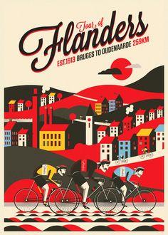 Spring Classic Cycling Prints by Neil Stevens