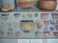 Ancient Greek pottery in the National Archaeological Museum in Athens