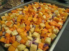 Roasted Sweet Potato, Butternut Squash, and Rutabaga Medley Recipe | Consider the leaf TURNED.