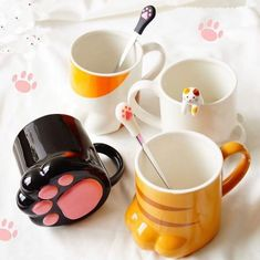 Kawaii Cat Paw Cup - Shut up and take my Money - Cats Kawaii Cat, Kawaii Room, Kitchenware, Tableware, Cute Cups, Cat Cafe, Cool Mugs, Tea Pots, Cool Things To Buy