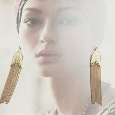 """❤️reduced 40%   golden nile earrings JUST REDUCED from $20. Flowing like a river of gold, these beautiful earrings are sure to turn heads. Streams of golden chain fall from delicately embossed arrowheads in a matte gold finish.  Measures: length   4-1/2"""" width   5/8""""  ❤️❤️>> we're kicking off this season of giving with a BIG SALE... all prices have been reduced 40% (prices as shown, no additional discounts). free shipping at cultiverre.com. •/4 Cultiverre Jewelry Earrings"""