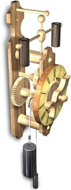Wood Gear Clock with authentic single Hour Hand Wooden Clock Kits, Wall Clock Kits, Diy Clock, Wooden Gears, Mechanical Clock, Wooden Truck, Steampunk Clock, Wood Games, Cool Clocks