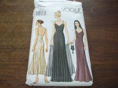 Miss Vogue 7387 Pattern Uncut 1930's Style Evening Day Dress Stole Sz 8 12 | eBay