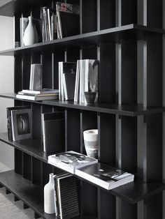Open wooden #bookcase BABELE by MY home collection #books @MY home collection