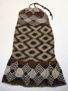 2009. Lydia Novillo. Halter dress. Formosa, Argentina. Traditional Wichi practice of using the fibers of the Chaguar, in the Bromeliad family, to weave nets, bags and other objects - it is an interconnected looping technique using the traditional diamond pattern of the rattlesnake. Took one month to complete - starting from making the fibers from the plant through to the weaving. Stunning.