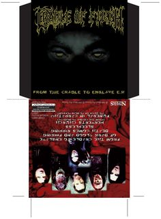Cradle of Filth - From the Cradle to Enslave CD promo. Client: Music For Nations. Circa 1999. © Sean Mowle.