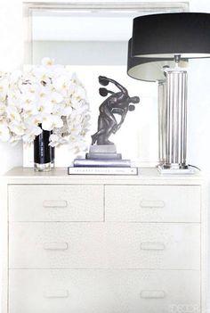 Interior Design Tips - Ryan Korban Design - Harper's BAZAAR, leather dresser