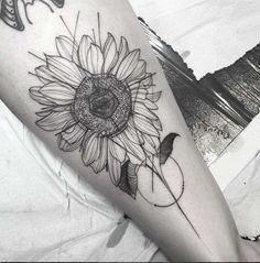Sunflower Tattoo by Freda Oliveira
