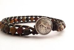 Leather Wrap Bracelet  Western Jewelry  by KatyTrailKeepsakes, $35.00