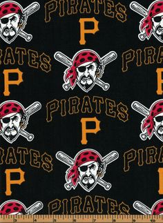 Pittsburgh Pirates - MLB Fabric |100% Cotton|Sold by the half yard