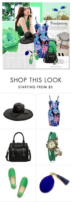 """Aquarius"" by undici ❤ liked on Polyvore featuring Therapy, Filù Hats, Tory Burch and Melissa"