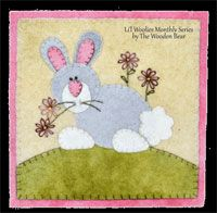 April Cottontale Pattern by the Wooden Bear at KayeWood.com. Wool applique technique, bunny and rabbit fans galore will love this easy to stitch pattern. http://www.kayewood.com/item/April_Cottontale_Pattern/3118 6.50
