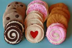 felt food cookies - Google Search