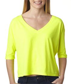 A light and airy tee that flows like the wind and feels even better. It features seam up center back, made of 3.7-ounce, 30-single 65% polyester/35% viscose.