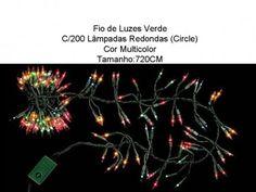 Luzes Natal série 200 Lâmpadas Multicolor 720cm #Natal