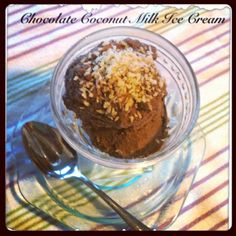 Chocolate Coconut Ice Cream with Toasted Coconut and Almonds Recipe