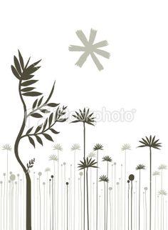 organic plant silhouettes