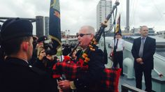 D-Day bagpiper's son plays for British and US veterans. The son of D-Day piper Bill Millin has played a replica version of his father's bagpipes for British and US veterans commemorating the anniversary of the Normandy landings in Portsmouth today. #DDay #Normandy #bagpipes #UK #Portsmouth #England #WorldWarII #WWII #WW2 #history #veterans #soldiers