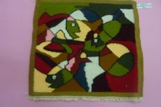 """Name of the product -Table mat Material – Wool, Tana, Synthetic thread Size -12x15"""" Time frame – Ten Days Cost – Rs.350/-"""