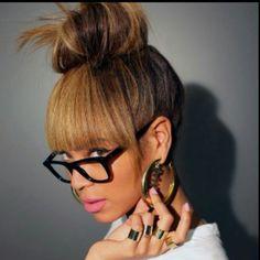 Beyonce Inspired Bun & Bangs Tutorial (Faux Bangs)