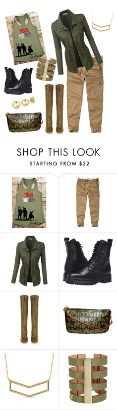 """Happy Veteran's Day #2"" by kerashawn ❤ liked on Polyvore featuring Hollister Co., LE3NO, Frye, Gianvito Rossi, Louis Vuitton, Allurez and BERRICLE"