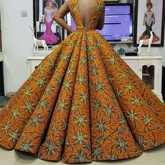 16 Fascinating Ankara Dress Styles to Make You Stand Out - Fashion&Beauty - operanewsapp African Prom Dresses, Ankara Dress Styles, African Wedding Dress, African Dresses For Women, African Attire, African Wear, African Style, African Fashion Ankara, Latest African Fashion Dresses