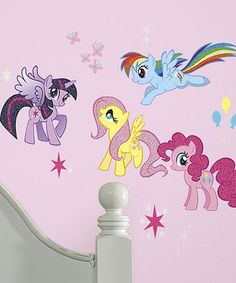 Love this My Little Pony Decal Set by My Little Pony on #zulily! #zulilyfinds