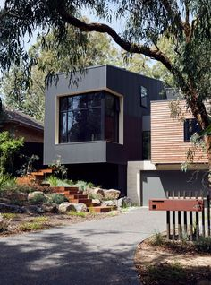 Gallery Of Blackburn House By Archiblox Local Australian Interior Architecture And Residential Design Blackburn, Vic Image 16 Source by - House Cladding, Timber Cladding, Exterior Cladding, Facade House, Concrete Cladding, Cladding Ideas, Concrete Wood, Residential Architecture, Interior Architecture