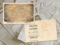 50 Wedding Save The Date Cards  Destination by FifthVintage, $59.00