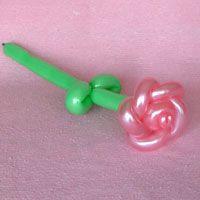 バラの花で練習 バルーンアートのやさしい作り方サイト!キュッとバルーン