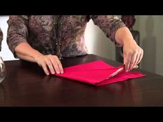 Napkin Folding with Denise Vivaldo and Cindie Flannigan
