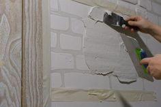 Кирпичная стена. Стиль лофт своими руками - Советы по ремонту Painted Furniture, Furniture Design, Brick Masonry, Bedroom Decor, Wall Decor, Mural Wall Art, Brick Wall, Diy, Handmade Crafts