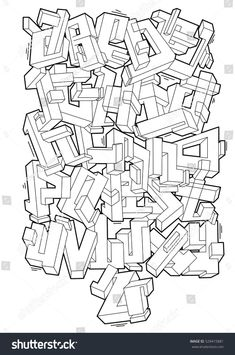 Grafitti Alphabet, Graffiti Alphabet Styles, Graffiti Lettering Alphabet, Tattoo Lettering Fonts, Graffiti Styles, Graffiti Art, Graffiti Doodles, Graffiti Writing, Graffiti Pictures
