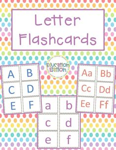 This set of letter flashcards includes 3 sets: a set of uppercase, a set of lowercase, and a set of both upper and lowercase. Students can use these cards to gain letter recognition as well as practicing matching uppercase to lowercase. Student Learning, Fun Learning, Learning Activities, Preschool Lessons, Kindergarten Classroom, Letter Flashcards, 2nd Grade Classroom, Uppercase And Lowercase, Letter Recognition