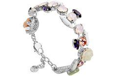 Bracelet Blooming plaqué argent, cristal Swarovski Reminiscence