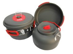 Alocs 3 Person Camping Pot Camping Cookware Outdoor Pots Sets ** Want additional info? Click on the image.
