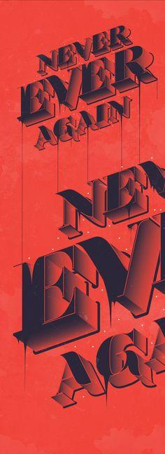 Typography by Johan Adam Horn, via Behance