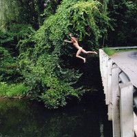 Sometimes life is like this. A naked jump.