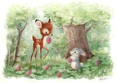 """sydwiki:""""Clover Patch"""" is one of two watercolor pieces I did for the Wonderground Gallery in Downtown Disney!"""