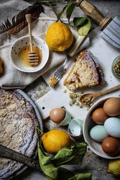 lemon honey and chamomile shoofly pie with an anzac biscuit crust | twiggstudios.com