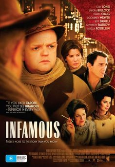Infamous --true story about author Truman Capote & friends, starring Toby Jones, Sigourney Weaver & Sandra Bullock.