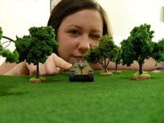 Make a forest or grass template for you miniature wargame! Yes I am a nerd.