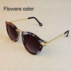 2016 Brand Designer Vintage Trend Sunglasses For Women Men Round Retro Sun Glasses Sports Oculos De Sol