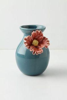 Pretty Pansy Vase, Tall
